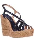 Palomitas By Paloma Barcelo' Studded Wedge Sandal - Lyst