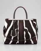 Fendi 2jours Medium Zebra Print Calf Hair Tote Bag - Lyst