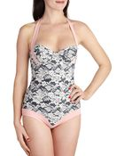 ModCloth A Lace To Call Your Own One Piece - Lyst