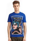 Versace Jeans Graphic Woman Print Tshirt - Lyst