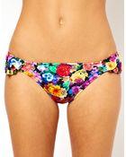 Asos Floral Ruffle Bikini Hipster Pant - Lyst