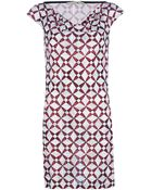 Balenciaga Printed Shift Dress - Lyst