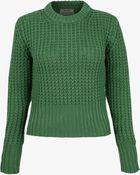 Acne Studios Green Lia Waffle Knit Short Jumper - Lyst