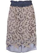Carven Lace Pencil Skirt - Lyst
