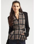 Nanette Lepore Scotland Yard Plaid Jacket - Lyst