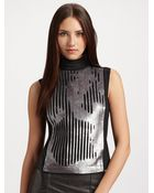 Philosophy di Alberta Ferretti Sequined Tieback Turtleneck - Lyst