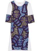Marni Printed Cotton Poplin and Jersey Dress - Lyst