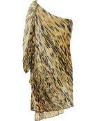 Roberto Cavalli Beadembellished Printed Silkchiffon Dress - Lyst