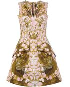McQ by Alexander McQueen Petal Print Exaggerated Dress - Lyst