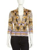 Laundry by Shelli Segal Baroque Print Shawl Collar Jacket - Lyst