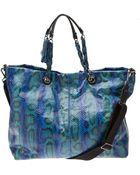 Lanvin Amalia Snake Shopping Bag - Lyst