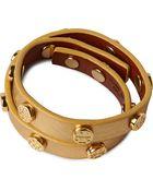 Tory Burch Leather Wrap Bracelet - For Women - Lyst