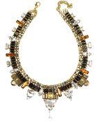 Erickson Beamon Xenon Golden Crystal Necklace - Lyst
