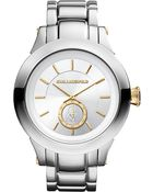 Karl Lagerfeld Watches Round Stainless Steel Watch - Lyst