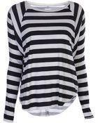 NSF Clothing Loretta Stripe Top - Lyst