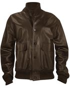 Schiatti & Co. Men'S Dark Brown Italian Nappa Leather Two-Pocket Jacket - Lyst