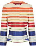 Stella McCartney Striped Twill Jacket - Lyst