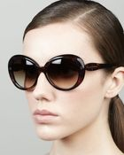 Kate Spade Doriane Watercolor Round Sunglasses Brown - Lyst