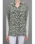 Stella McCartney Spotted Top Olive - Lyst