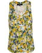 Suno Printed Cotton Tank Top - Lyst