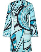 Emilio Pucci Silk Long Sleeve Dress - Lyst