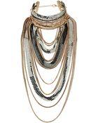 Topshop Mega Chain Drape Necklace - Lyst