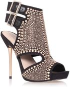 Carvela Kurt Geiger 130mm Studded Faux Leather Sandals - Lyst