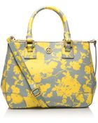 Tory Burch Small Printed Robinson Double Zip Tote - Lyst