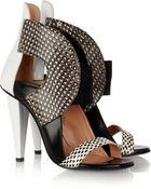Roland Mouret Dolls Elaphe And Leather Sandals - Lyst