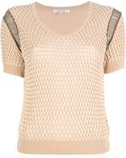 Carven Cropped Cut-out Knit Top - Lyst