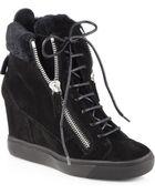 Giuseppe Zanotti Suede Platform Wedge Sneakers - Lyst
