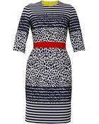 Preen By Thornton Bregazzi Stingray Striped Dress - Lyst