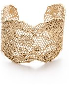 Aurelie Bidermann Lace Cuff - Gold - Lyst