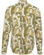 Gant Rugger Khaki Penguin Camo Print Shirt - Lyst