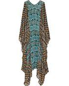 Issa Printed Silk Chiffon Kaftan - Lyst