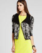 BCBGMAXAZRIA Jacket Eva Graphic Jacquard Moto - Lyst