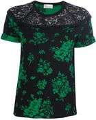 RED Valentino Lace Detail Floral Top - Lyst