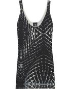 Just Cavalli Printed Silk And Cotton-Blend Jersey Top - Lyst
