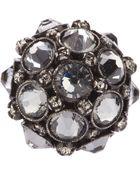 Lanvin Crown Crystal Ring - Lyst