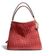 Coach Madison Phoebe Shoulder Bag in Gathered Twist Leather - Lyst