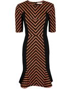 Matthew Williamson Folk Stripe Chevron Dress - Lyst