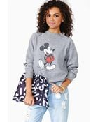 Nasty Gal Mickey Mouse Sweatshirt - Lyst