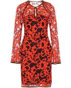 Diane von Furstenberg Gadie Twotone Lace Dress - Lyst