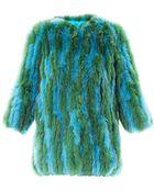 Hockley Gloriosa Vertical Panel Fur Coat - Lyst