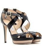 Jimmy Choo Kuki Patent Leather Platform Sandals - Lyst