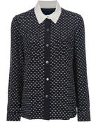Marc By Marc Jacobs Heart Print Blouse - Lyst
