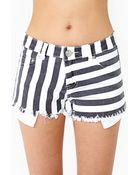 Nasty Gal Sailor Stripe Cutoff Shorts - Lyst