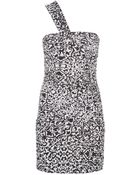 Isabel Marant One Shoulder Printed Dress - Lyst
