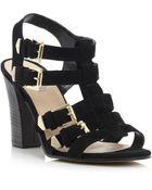 Dune Fellow Multi Strap Block Heel Shoes - Lyst