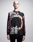 Givenchy Printed Sequinsleeve Sweatshirt - Lyst